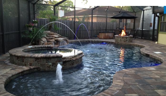 Swimming pools custom pool jacksonville fl for Pool designs florida