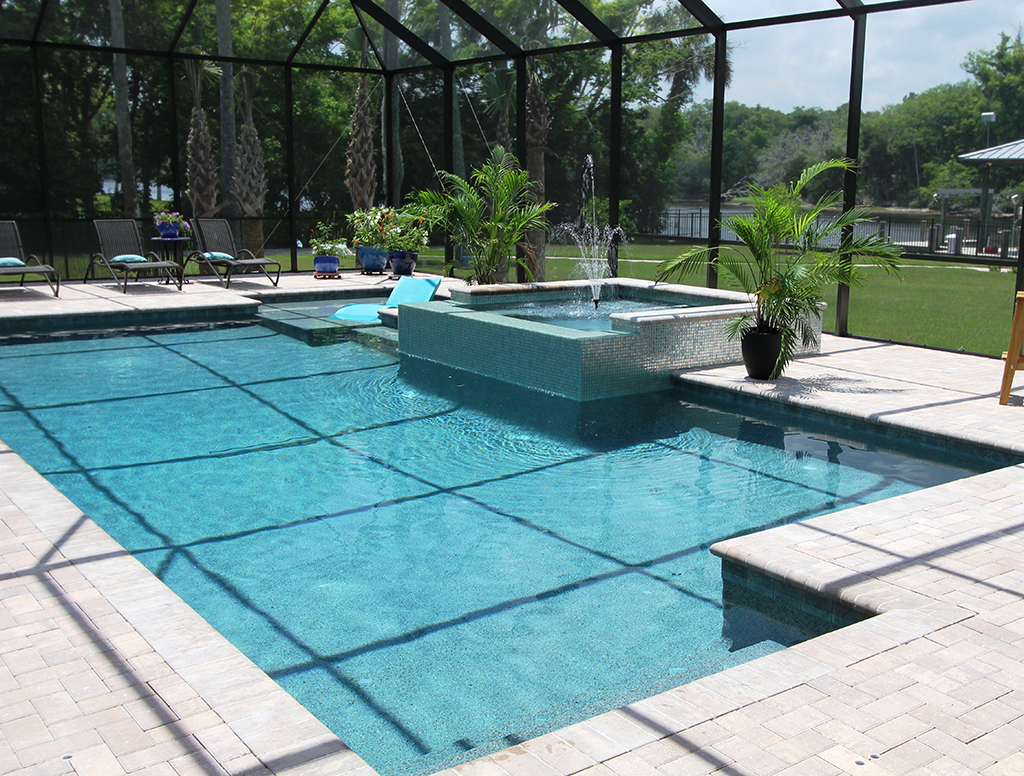 Swimming pools custom pool jacksonville fl gallery for Pool and spa show charlotte nc